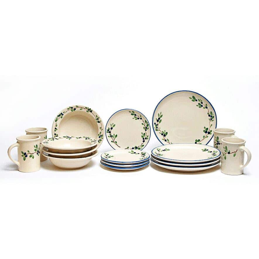 Blueberry Coupe Dinner Plate Set for Four
