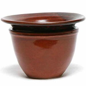 Copper Clay African Violet Pot