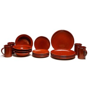 Copper Clay Coupe Dinner Plate Set for Four