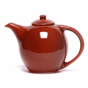 Copper Clay Teapot