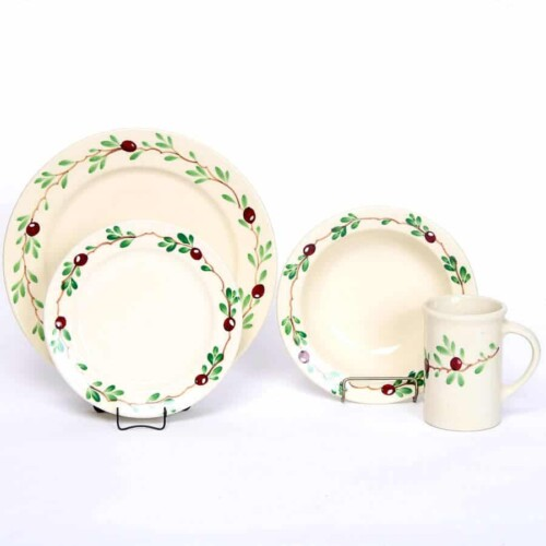 Cranberry Classic Dinner Plate Set for One