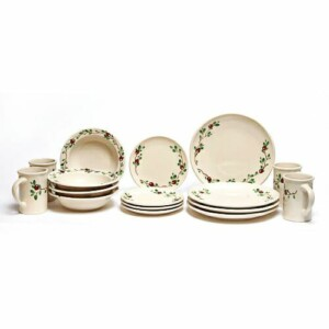 Cranberry Coupe Dinner Plate Set for Four