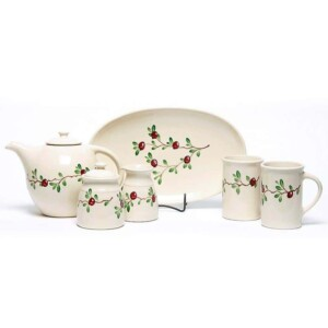 Cranberry Tea Set
