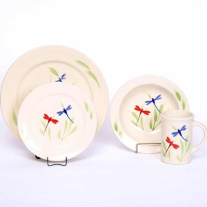 Dragonfly Classic Dinner Plate Set for One