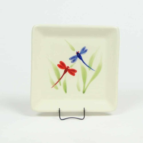 Dragonfly Square Appetizer Plate