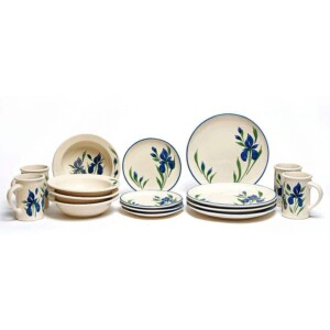 Field of Iris Coupe Dinner Plate Set for Four