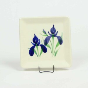 Field of Iris Square Appetizer Plate