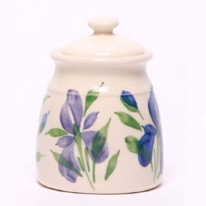 Field of Iris Sugar Jar