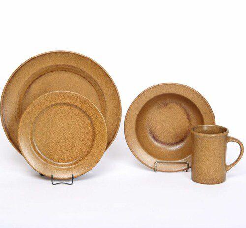 Go Green Earthware Classic Dinner Plate Set for One