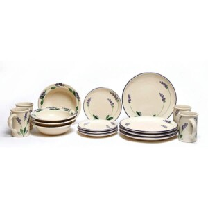 Lavender Coupe Dinner Plate Set for Four