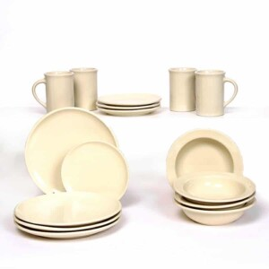 Pearl Coupe Dinner Plate Set for Four