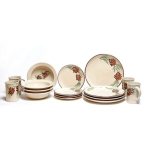 Pinecone Coupe Dinner Plate Set for Four