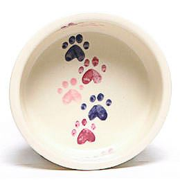 Walking Paws Large Pink Pet Bowl