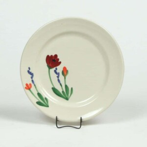 Red Poppy Classic Salad Plate