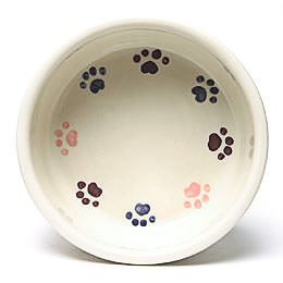 Round Prints Large Pink Pet Bowl