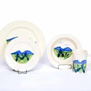 Summer Peaks Classic Dinner Plate Set for Four
