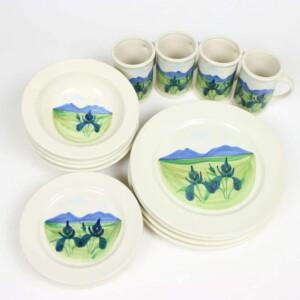Summer Peaks Classic Dinner Plate Set for Four