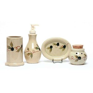 Tuscan Olive Bathroom Set