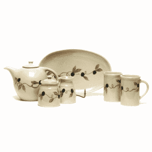 Tuscan Olive Tea Set
