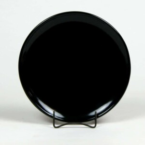 Onyx Black Coupe Dinner Plate
