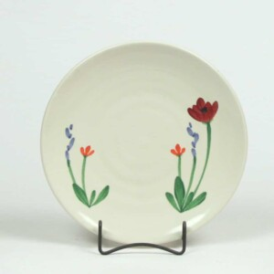 Red Poppy Craftline Salad Plate