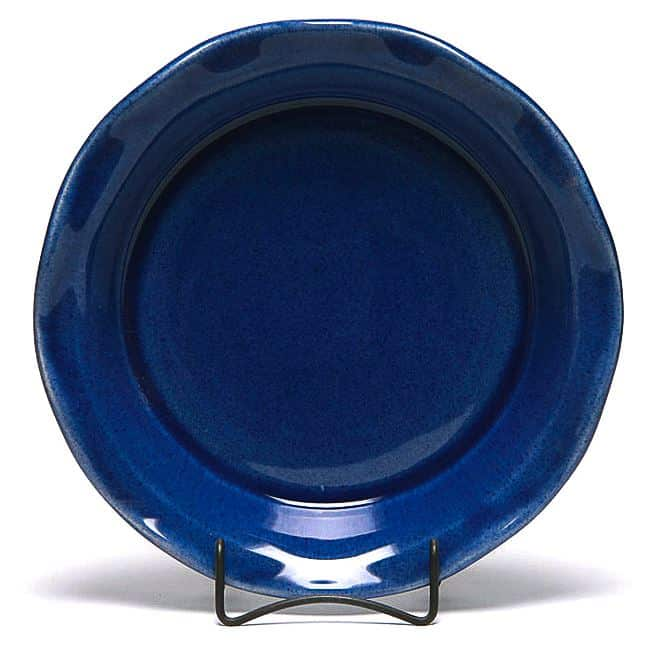 American Blue Frilly Pie Plate