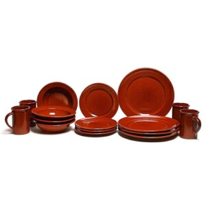Copper Clay Classic Dinner Plate Set for Four