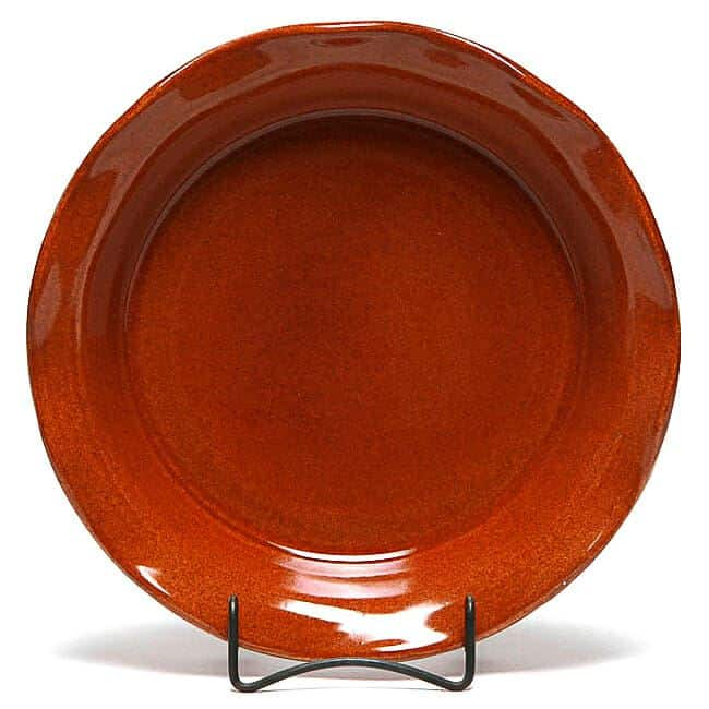 Copper Clay Frilly Pie Plate