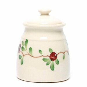 Cranberry Sugar Jar