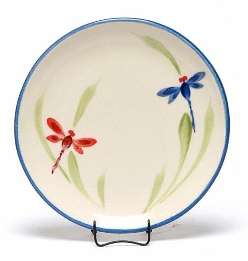 Dragonfly Coupe Salad Plate