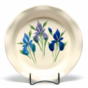 Field of Iris Frilly Pie Plate