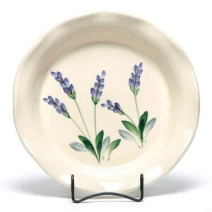 Lavender Frilly Pie Plate