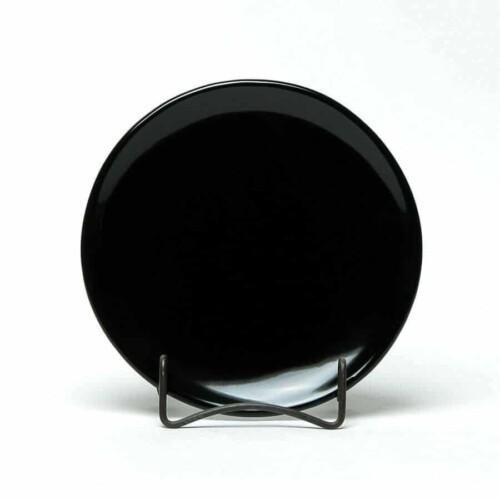 Onyx Black Coupe Salad Plate