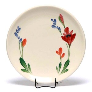 Red Poppy Coupe Salad Plate