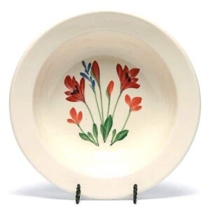 Red Poppy Classic/Coupe Soup Bowl