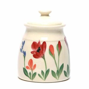 Red Poppy Sugar Jar