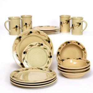 Tuscan Olive Classic Dinner Plate Set for Four