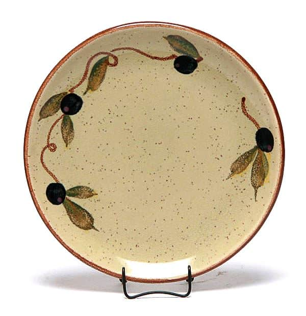 Tuscan Olive Coupe Salad Plate