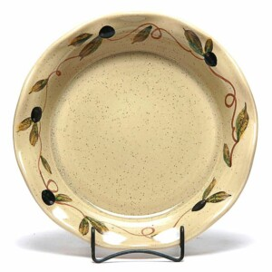 Tuscan Olive Frilly Pie Plate