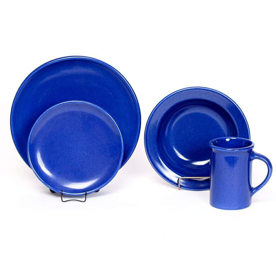 American Blue Coupe Dinner Plate Set for One
