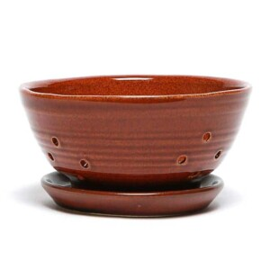 Copper Clay Berry Colander