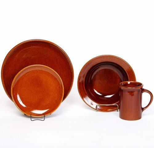 Copper Clay Coupe Dinner Plate Set for One