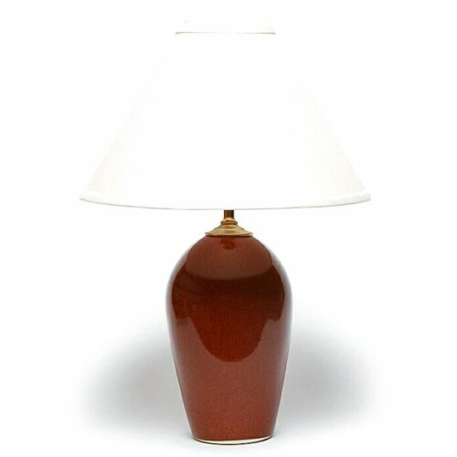 Copper Clay Large Lamp