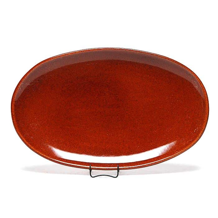 Copper Clay Oval Platter