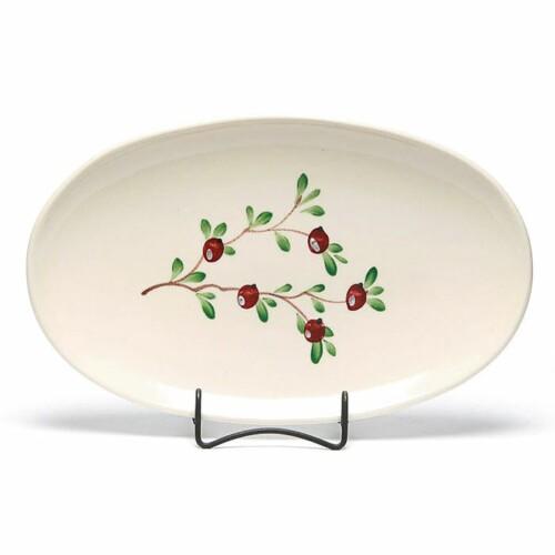 Cranberry Oval Platter