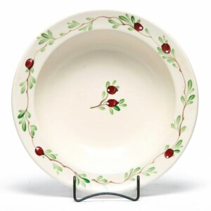 Cranberry Large Serving Bowl
