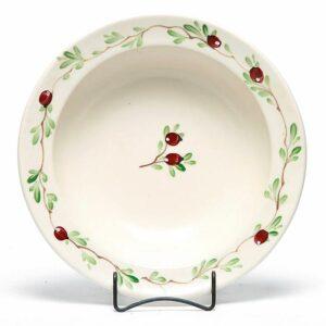 Cranberry Large Serving Bowl