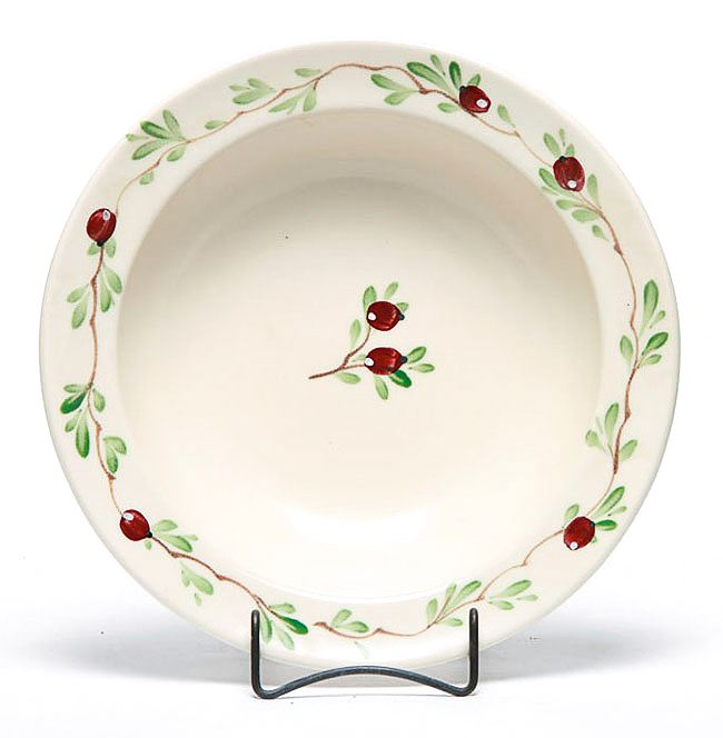 Cranberry Serving Bowl