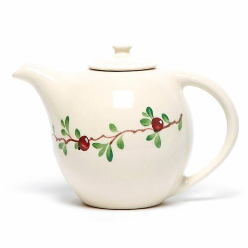 Cranberry Teapot