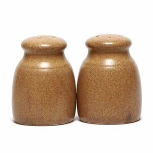 Go Green Earthware Salt and Pepper Shaker Set
